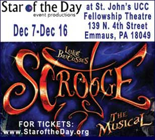 SCROOGE: THE MUSICAL in St. John's UCC, Fellowship Theatre