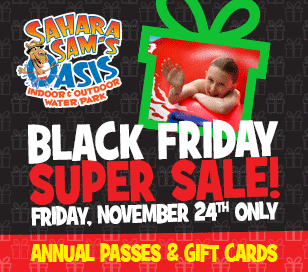 Don't miss our annual Black Friday SUPER Sale. This year, we'll have limited quantities of low-priced annual passes and gift cards; perfect for family members of all ages! Annual Passes 39.99! Pass holders enjoy unlimited visits, the entire year. Members receive 10% Off Food and Beverage, 10% Off Merchandise, birthday party discounts, access to special events and are the first to know about special offers. It is the ultimate value at the deepest discount! Gift Card Bonus! Buy a $40 Gift Card for only $25. Gift Cards are valid on food, merchandise, and admission tickets purchased on location!